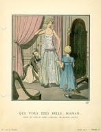 Que Vous Etes Belle, Maman… | Robe du Soir et Robe D'Enfant, de Jeanne Lanvin