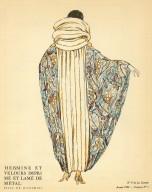 Hermine et Velours Imprime et Lame de Metal   Tissu de Bianchini