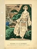 """Suzanne et le Pacifique   Robe de Bains de Mer, en """"Chevrons Laine"""" de Rodier"""