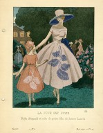La Fete est Finie | Robe d&#039;organdi et robe de petite fille, de Jeanne Lanvin