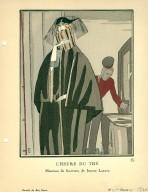 L'Heure du The | Manteau de fourrure, de Jeanne Lanvin