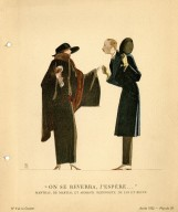 """On Se Reverra, J'Espere…"" | Manteau, de Martial et Armand. Redingote, de Lus et Befve."