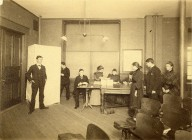 [High School Pupils Voting, about 1908]