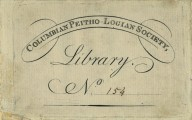 Columbian Peitho-Logian Society, Library No. 154