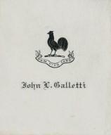 Galleti, John D.