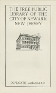 Free Public Library of the City of Newark New Jersey, The