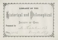 Historical and Philoshophical Society of Ohio