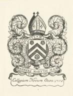 Collegium Novum Oxon: 1702