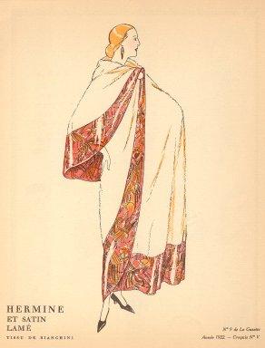 Hermine et Satin Lame | Tissu de Bianchini