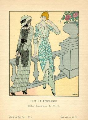 Sur la Terrasse | Robes d'apres-midi de Worth