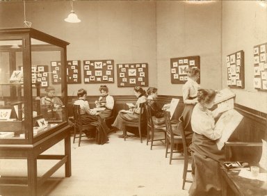 [Library - Museum, 1890s]