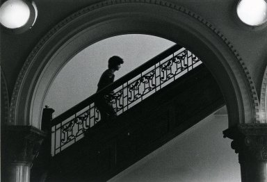 [Library Post-Renovation, Lobby - staircase]