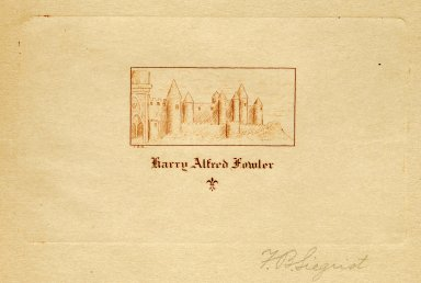 Fowler, Harry Alfred