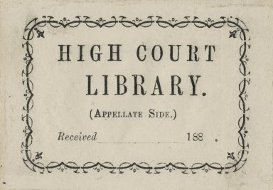 High Court LIbrary
