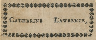 Lawrence, Catherine
