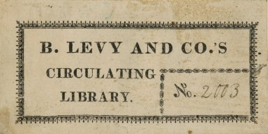 B. Levy and Co.'s Circulating Library