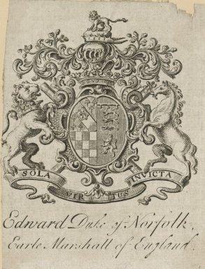 Edward Duke of Norfolk, Earle of Marshall of England