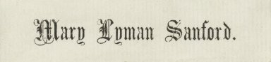 Sanford, Mary Lyman