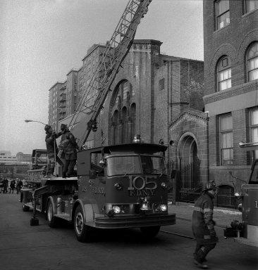 [Campus -- Fire at Pratt, Main Building]