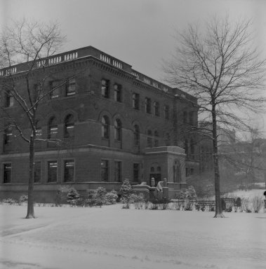 [Campus -- Library, Snow Scene]