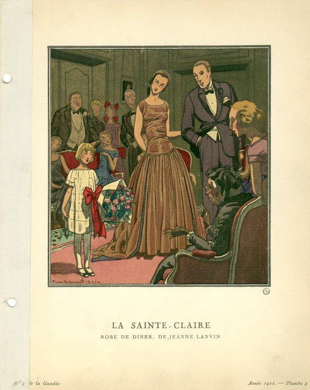 La Sainte-Claire | Robe de Diner, de Jeanne Lanvin, La Sainte-Claire | Robe de Diner, de Jeanne Lanvin