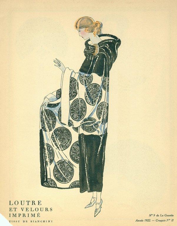 Loutre et Velours Imprime | Tissu de Bianchini, Loutre et Velours Imprime | Tissu de Bianchini