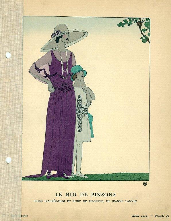 Le Nid de Pinsons | Robe D'Apres-Midi et Robe de Fillette, de Jeanne Lanvin, Le Nid de Pinsons | Robe D'Apres-Midi et Robe de Fillette, de Jeanne Lanvin