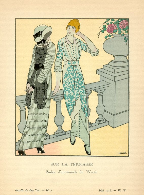 Sur la Terrasse | Robes d'apres-midi de Worth, Sur la Terrasse | Robes d'apres-midi de Worth