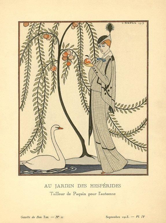 Au Jardin des Hesperides | Tailleur de Paquin pour l'automne, Au Jardin des Hesperides | Tailleur de Paquin pour l'automne