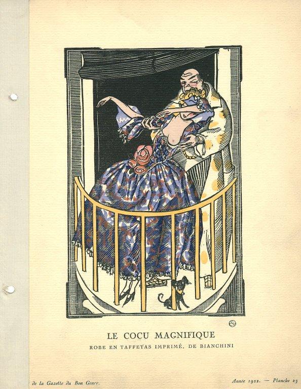 Le Cocu Magnifique | Robe en Taffetas Imprime, de Bianchini, Le Cocu Magnifique | Robe en Taffetas Imprime, de Bianchini