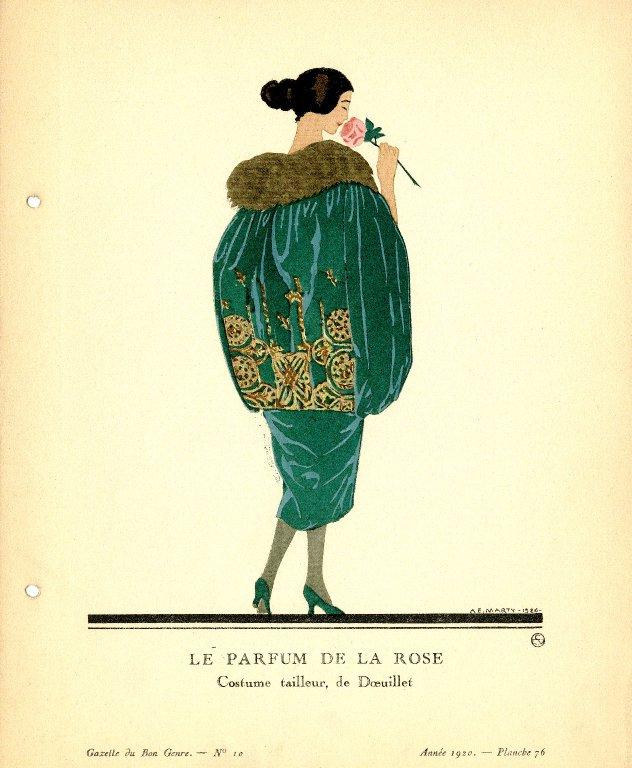 Le Parfum de la Rose | Costume tailleur, de Doeuillet., Le Parfum de la Rose | Costume tailleur, de Doeuillet.