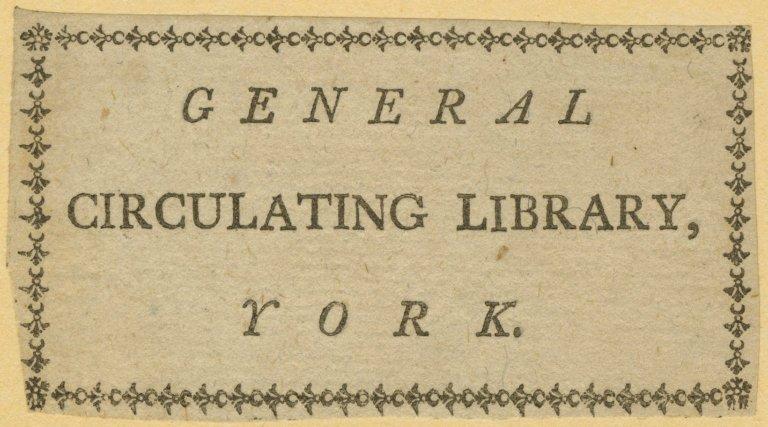 General Circulating Library, York